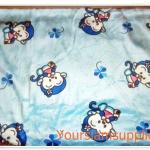 ผ้าขนหนู ผ้าเช็ดตัว เนื้อนุ่ม นาโน สีฟ้าลายลิง