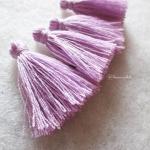 พู่สีม่วงโครเชต์ ด้ายถัก venus เบอร์ 16 iris tassel crochet acrylic yarn no.16