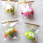 ราคาส่ง พวงกุญแจนกฮูกจิ๋ว 1.5 นิ้ว owl amigurumi crochet keychain 1.5 inches (ราคาส่ง for wholesale)