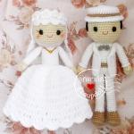 ตุ๊กตาถัก คนแต่งงาน อิสลาม 12 นิ้ว