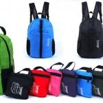 กระเป๋าเป้สะพายหลัง กระเป๋า backpack เดินป่า ท่องเที่ยว วัสดุ Nylon กันน้ำ ดีไซน์สีสันสดใส พับเก็บได้ กระเป๋าเป้ใส่เสื้อผ้า ราคาถูกมาก 128086