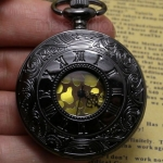 นาฬิกาล็อคเก็ต สไตล์วินเทจ สีคลาสสิค ด้านใน หน้าปัดขาว นาฬิกาสร้อยคอ แบบสวย ลายน้ำ ของขวัญให้แฟน สุดหรู 310958