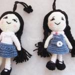 พวงกุญแจตุ๊กตาถักไหมพรม เด็กนักเรียนเซนโยเซฟ
