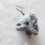 ต่างหูถักโครเชต์ รูปช้าง earrings crochet
