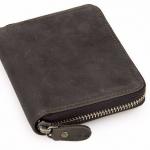 กระเป๋าสตางค์ผู้ชาย กระเป๋าสตางค์ ซิปรอบ ใบสั้น กระเป๋าสตางค์หนังแท้ ส่วนที่แข็งแรง ทนทานที่สุด Crazy Horse สีหนัง แบบสวย สไตล์คาวบอย 997359