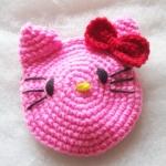 กระเป๋าใส่เหรียญคิตตี้ถักโครเชต์ kitty amigurumi crochet bag