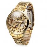 นาฬิกาข้อมือสแตนเลส แบบโชว์กลไกด้านใน นาฬิกาข้อมือผู้ชาย แบบไม่ใช้ถ่าน สแตนเลส สีทองทั้งเรือน ดูมีระดับ มีสไตล์ ของขวัญให้แฟนสุดหรู 344023