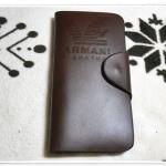 กระเป๋าสตางค์ผู้ชาย ใบยาว Armani สีน้ำตาล A004