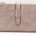กระเป๋าสตางค์หนังแท้ กระเป๋าสตางค์ผู้หญิง ใบยาว หนังมันเงา จุบัตรได้เยอะ เสริมความจุด้วย กระเป๋าใส่บัตร ถอดเข้าออกได้ สีเทา no 606452_10