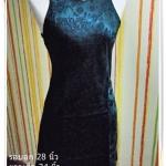 #1104 Used ชุดแซก เดรส ออกงาน สไตล์ สาวหมวย สีเขียวมรกต