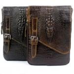 กระเป๋าคาดเอว หนังแท้ อัดลาย หนังจรเข้ ดีไซน์ เป็น ตัวจรเข้ บนกระเป๋า ใช้เป็น กระเป๋าสะพายข้าง ขนาดเล็ก กระเป๋าเอว สไตล์วินเทจ 351948