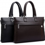 กระเป๋าถือผู้ชาย สีดำ และ สีน้ำตาล หนังแบบเดียว กับ เบาะรถยนต์ กระเป๋า ใส่เอกสาร ใส่ Note book แบบสวย ดีไซน์เก๋ ทำความสะอาดง่าย 294885