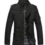 เสื้อแจ็คเก็ต ผู้ชายแขนยาว ผ้า Polyester เสื้อคลุม กันลม กันแดด แบบสวย ใส่สบาย สีดำ ใส่ขี่มอเตอร์ไซค์ เสื้อแขนยาว ซิปด้านหน้า 131440_1