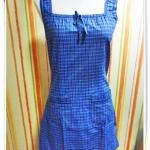 ๊Used เดรสแฟชั่น ลายสก๊อต สีน้ำเงิน ผ้า Cotton น่ารักสุด ๆ 183001