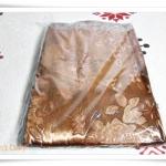 ผ้าห่มแพร ผ้าแพรรับไหว้ สีน้ำตาล กาแฟ P209