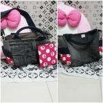 กระเป๋าหิ้วใบเล็ก+กระเป๋าใส่เหรียญสีชมพู น่ารัก