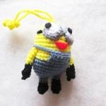พวงกุญแจมินเนี่ยนถักไหมพรม ขนาด 4 นิ้ว minions crochet keychain 4 inch