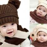หมวกไหมพรม สำหรับเด็ก มีหู 2 ข้าง น่ารักมาก ๆ ค่ะ สี น้ำตาลกาแฟ no 70342_1