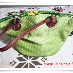 Used กระเป๋าถือ สีเขียว กระเป๋าสาน ราคาถูก M308