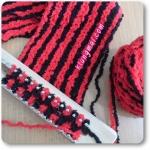 [ บล็อกไม้ ] การถักผ้าพันคอ ด้วยบล็อกไม้ โดยใช้ไหมขนแกะ 2 เส้น