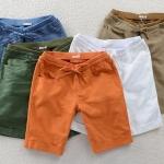 กางเกงขาสามส่วน กางเกงขาสั้น ผู้หญิง ดีไซน์ สีพื้น สีสันสดใส สีลูกกวาด เอวยางยืด อย่างดี แบบสวย ใส่เที่ยว ใส่เดินชายหาด สไตล์วินเทจ 584560