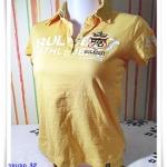 #155008 Used เสื้อยืดคอปก สีเหลือง สินค้าลดราคา