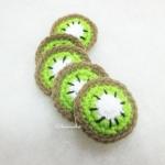กีวีถักโครเชต์ kiwi fruit crochet