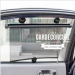 (ลด 10 % ) Car sun shade roll - ที่กันแดดรถยนต์แบบม้วน ยืดหดเก็บได้อัตโนมัติ ประหยัดพื้นที่