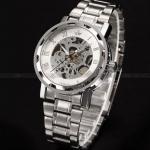 นาฬิกาข้อมือ โชว์กลไก Mechanical watch นาฬิกาข้อมือผู้ชาย สาย Stainless steel เห็นกลไกการทำงานด้านใน ไม่ต้องใส่ถ่าน 92826