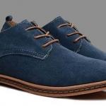 รองเท้าหุ้มส้น ผู้ชาย รองเท้าผู้ชาย สไตล์ Oxford แบบทางการ สีน้ำเงิน แบบหรูหรา มีสไตล์ ใส่ได้กับ กางเกงยีนส์ ดูดีสุด ๆ 17024_1