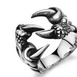 แหวนผู้ชาย แหวนกรงเล็บ นกอินทรี ทำจาก สแตนเลส สตีล แท้ แหวนเงิน สำหรับผู้ชาย ของขวัญให้แฟน สุดเก๋ 833603