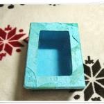 กล่องกระดาษสา หน้าใส สีฟ้า