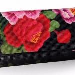 กระเป๋าสตางค์ผู้หญิง ใบยาว กระเป๋าสตางค์ หนังวัว แท้ เพ้นท์ ลายดอกไม้ แบบผู้ใหญ่ กระเป๋าสตางค์ใบยาว แบบผู้ใหญ่ สีแดง สีดำ 205113_1