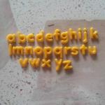 แม่พิม A-Z แม่พิมซิลิโคน Candy Small 26ชิ้น ขนาดสูง1.3cm