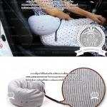 Travel Pillow U-shaped neck pillow - หมอนโฟมรองคอ หนุนเอว พกพาสำหรับขับรถ พกพาเดินทางบนเครื่องบิน - สีเทา