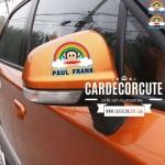 PAULFRANK - สติกเกอร์ตกแต่งรถยนต์ ติดกระจกข้างรถยนต์