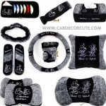 ( ลด 10 - 25 % ) MICKEY-MINNIE- SET 3 แบบเซ็ต : BLACK GRAY (3 SET)