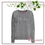 H&M / Knit Sweater (Size M /#Black/White)
