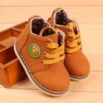 รองเท้าผ้าใบ รองเท้าหุ้มส้น รองเท้าบูท เด็ก Martin Boot สีน้ำตาลอ่อน อมส้ม รองเท้าเดินทาง สำหรับเด็ก น่ารัก ๆ เข้ากับชุด ยีนส์ ใส่เที่ยว 239220_1