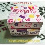 กล่องไม้ ลาย Birthday สีชมพู งาน Hand made
