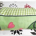 ผ้าห่มสำลี เนื้อนุ่ม สีเขียว ลายช้าง