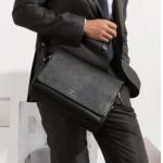 กระเป๋าสะพายข้างผู้ชาย กระเป๋าหนังแท้ แบบมีสายสะพายข้าง ใบใหญ่จุของได้เยอะ ทรงนอน กระเป๋าสะพาย สไตล์ญี่ปุ่น 33x 24 x 8 cm สีดำ และ สีน้ำตาล no 25291_6