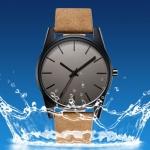 นาฬิกาข้อมือ ผู้ชาย ผู้หญิง ใส่ได้ นาฬิกาข้อมือ สายหนังแท้ ดีไซน์ หน้าปัดกลม แบบบาง ความหนาเพียง 8 mm นาฬิกาข้อมือใส่ทำงาน ของขวัญสุดพิเศษ 294597