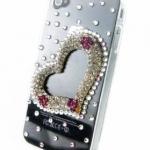 เคส iphone 4 4S เคสตกแต่ง คริสตัล รูปหัวใจ ของขวัญวันวาเลนไทน์ สุดหรู ใช้งานได้จริง เคส ติดหัวใจ ของขวัญให้แฟน ราคาถูก 345607