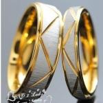 แหวนคู่ ชายหญิง แหวนหมั้น แหวนแต่งงาน แหวนแทนใจ สีเงิน และ สีทอง พ่นทราย ลาย คลาสสิค แหวนคู่ สุดหรู แบบสวย ราคาถูก 817966