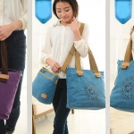 กระเป๋าถือ กระเป๋าสะพาย ผ้าแคนวาส หรือ ผ้ายีนส์ ดีไซน์สวย แยกเป็น 2 ใบได้ ซื้อ 1 ได้ 2 กระเป๋าสะพาย สไตล์ วินเทจ ผู้หญิง ผู้ชาย ใช้ได้ 134026
