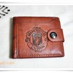 กระเป๋าสตางค์หนังแท้ สีน้ำตาล Manchester United A209