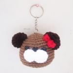 พวงกุญแจหัวตุ๊กตาหมี bear amigurumi crochet keychain