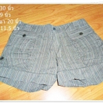 #1106 Used กางเกงขาสั้น แฟชั่น ลายทาง