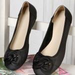 รองเท้าหุ้มส้น ผู้หญิง รองเท้าหนังแท้ สำหรับใส่ทำงานได้ ด้านหน้า ดีไซนติดโบว์ ใส่สบาย รองเท้าผู้หญิง ใส่ทำงาน สีดำ ราคาถูก no 77216